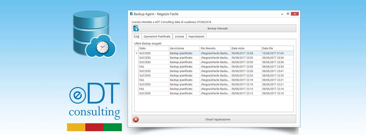 Negozio Facile: Backup Agent